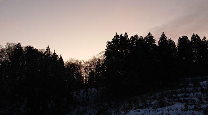 【初冬の朝は】