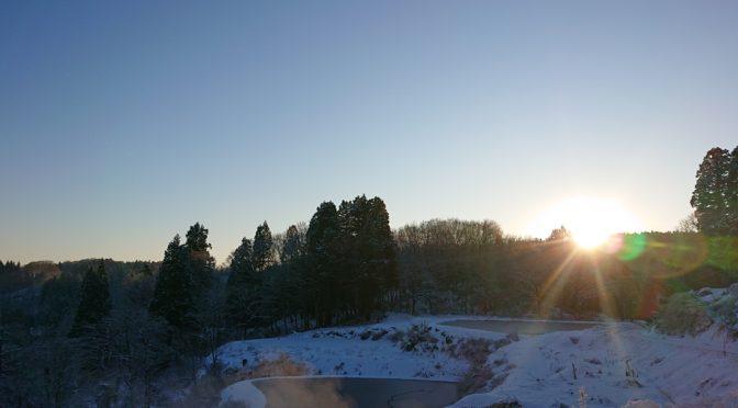 【雪国の初日の出】