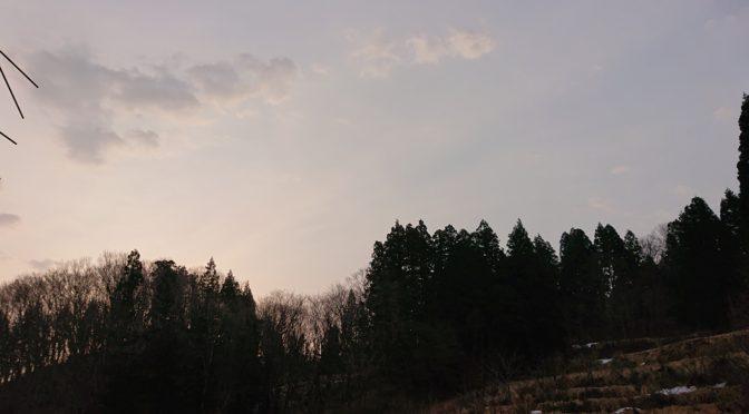 【山里の朝】